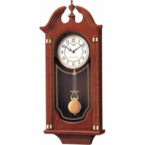 Waterloo Chiming Wood Wall Clock - Rhythm CMJ303ER06