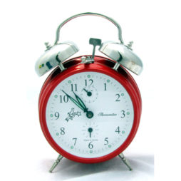 Sternreiter Double Bell Alarm Clock - Fire Red