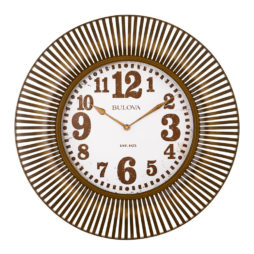 "Sunburst 28.75"" Wall Clock Bulova C4843"