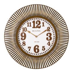 """Sunburst 28.75"""" Wall Clock Bulova C4843"""