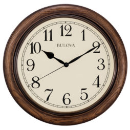 "Oakbrook 16"" Station Wall Clock - Bulova C4845"