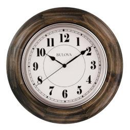 """Albany 16"""" Wooden Wall Clock - Bulova C4847"""