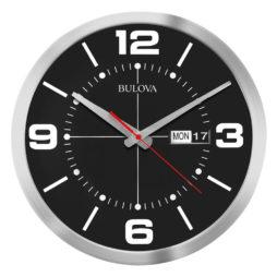 """Calendar 14"""" Modern Wall Clock - Bulova C4848"""