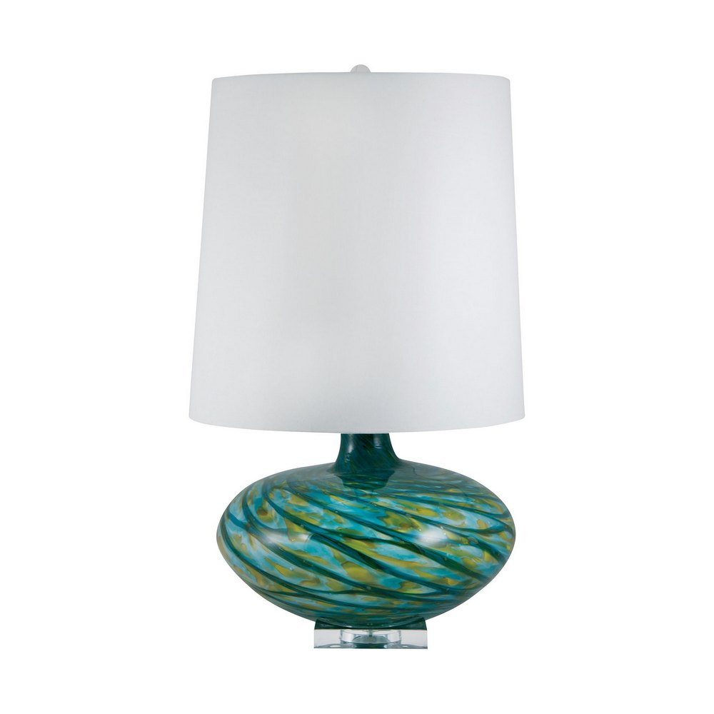 big bang blown glass table lamp in blue swirl lamp works. Black Bedroom Furniture Sets. Home Design Ideas