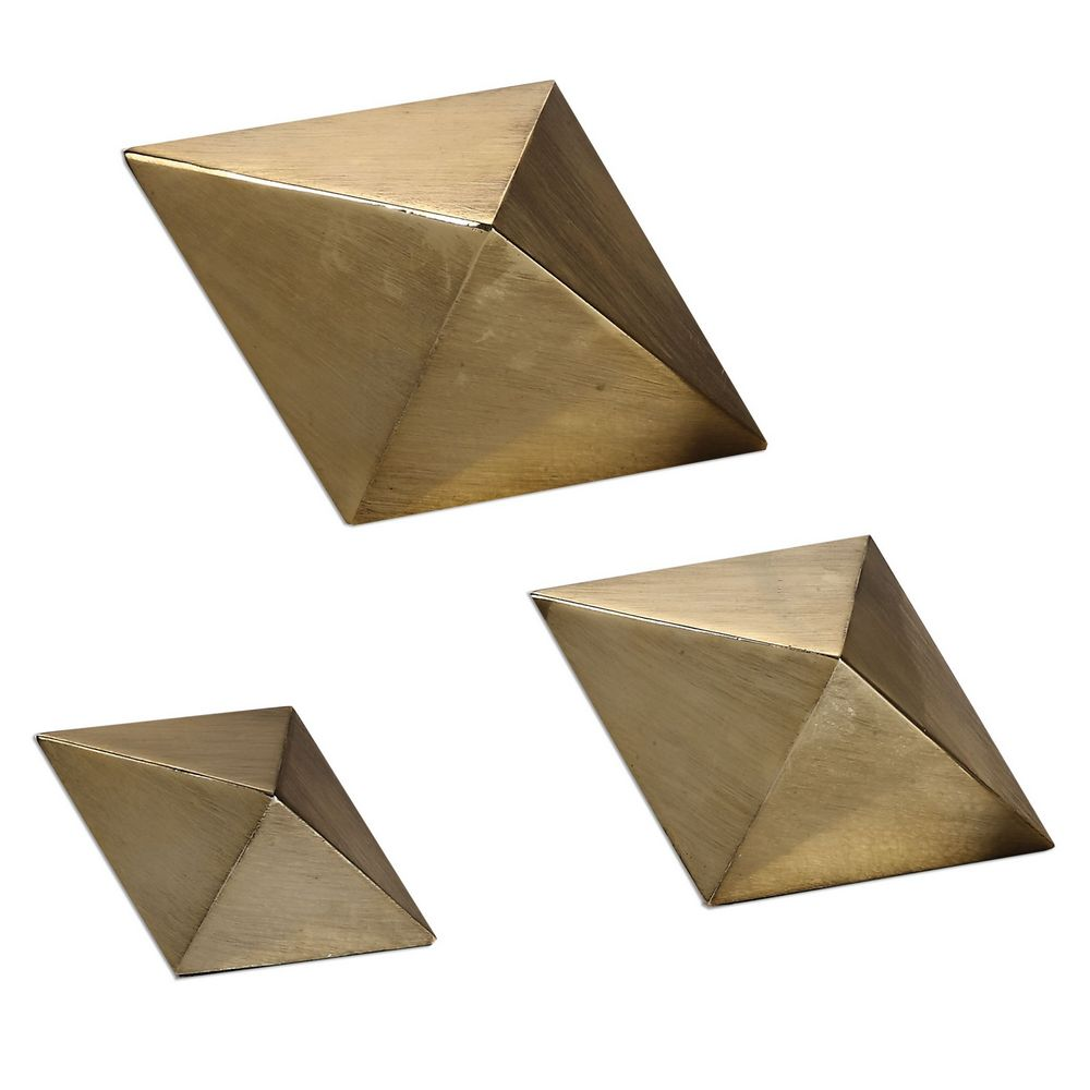 Uttermost Rhombus Champagne Accents, S/3 20007 ...
