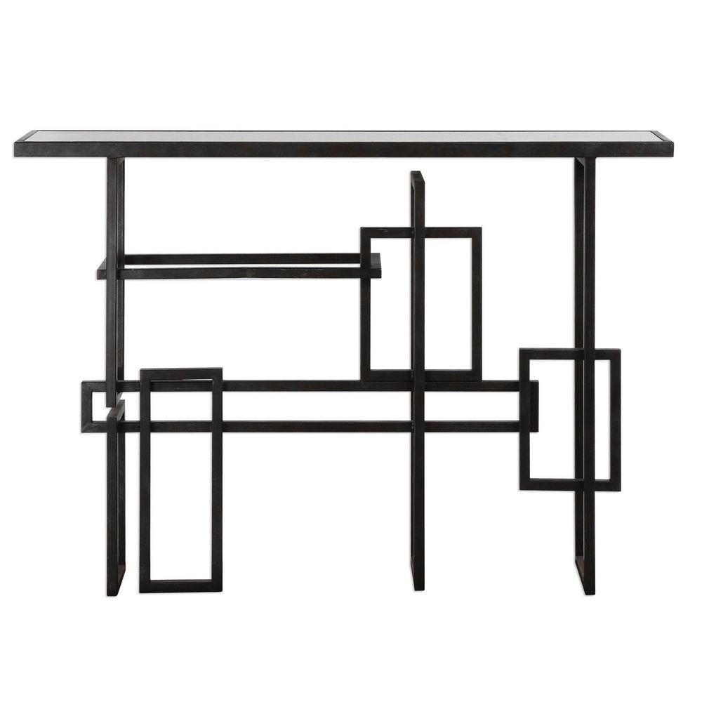 Uttermost dane industrial console table 24690 for 10 inch depth console table