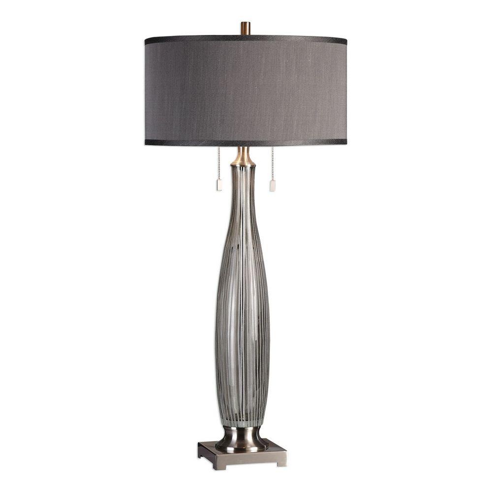 Uttermost Coloma Gray Glass Table Lamp 27199 Clockshops Com