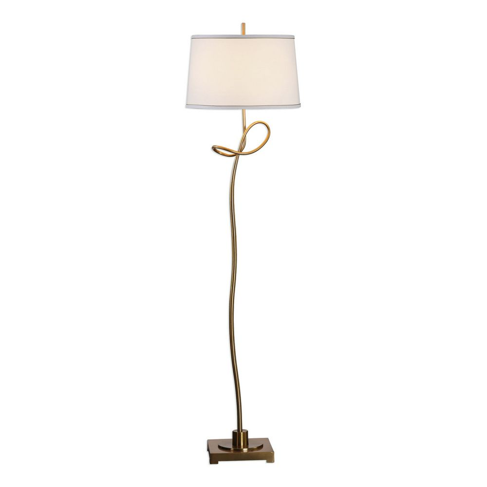 Uttermost dalia twisted gold floor lamp 28124 clockshopscom for Gold twist floor lamp