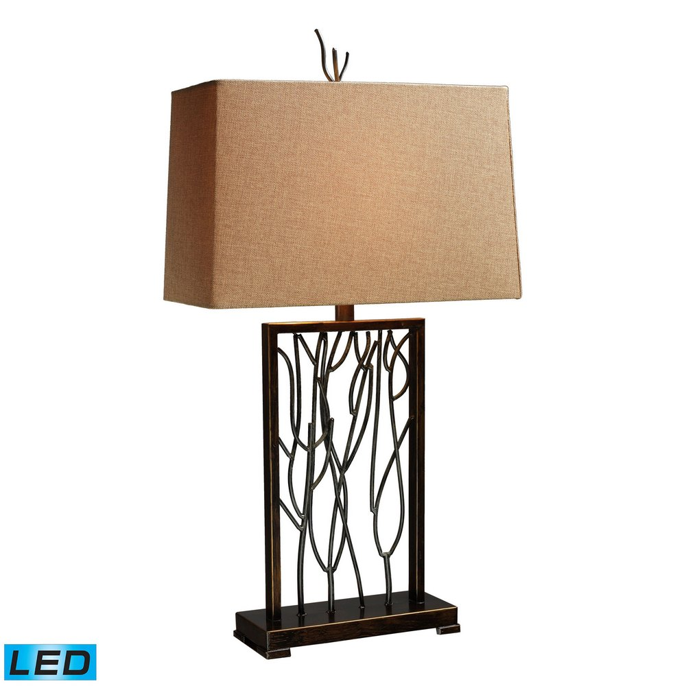 Belvior Park Led Table Lamp In Aria Bronze And Iron