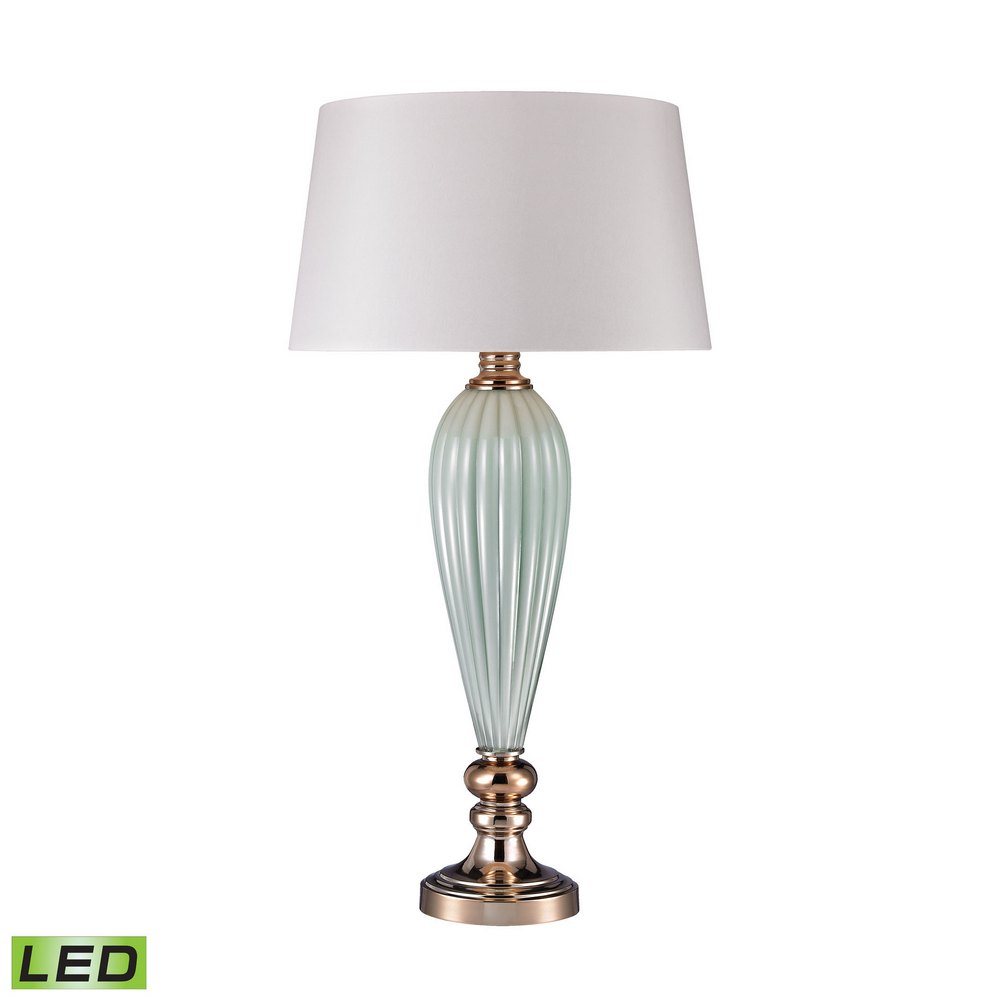 Mint Ribbed Led Lamp With Gold Accents Dimond Lighting