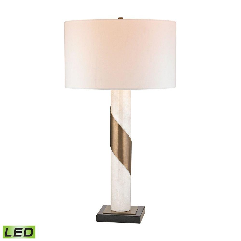Brass Strapped Marble Led Lamp Dimond Lighting D2844 Led