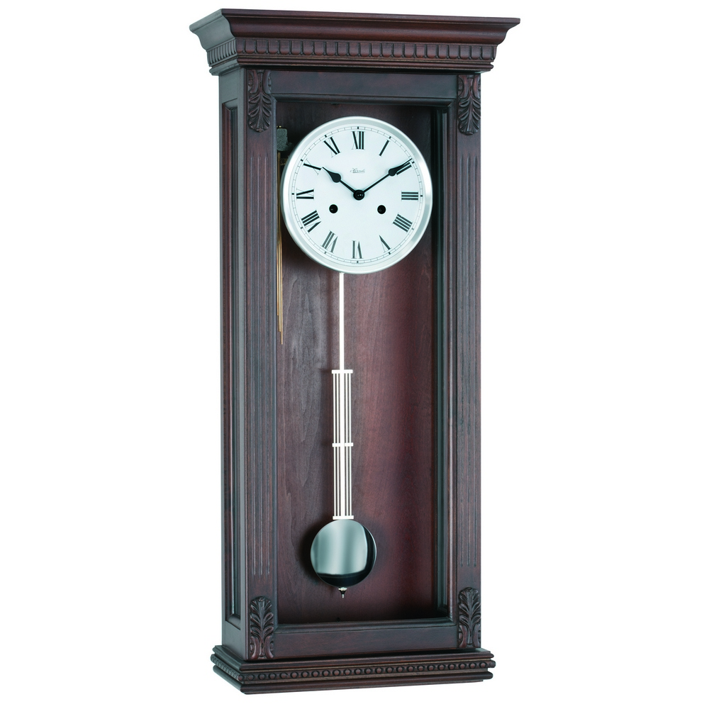 Pendulum wall clock howard miller hermle bulova clockshops 34off hermle pembroke chiming wall clock with mechanical gong 70819 q10141 amipublicfo Choice Image