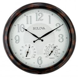Bulova Weather mate Indoor / Outdoor Wall Clock C4851