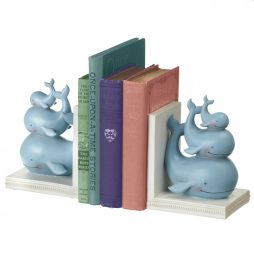 Stacked Whale Bookends