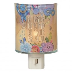 Be Brave Be Kind Be True Be You Thick Colored Glass Night Light - Midwest CBK 109548