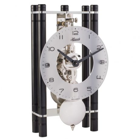 Mikal Modern Mechanical Table Clock - Black Hermle 23021740721