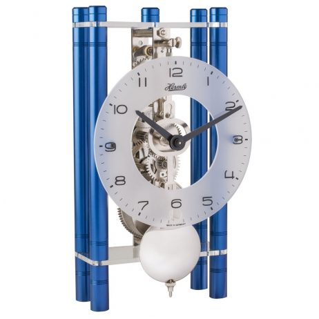 Mikal Modern Mechanical Table Clock - Blue Hermle 23021Q70721