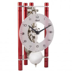Lakin Triangular 8-day Mechanical Mantel Clock - Red w/Glass Dial Hermle 23025360721