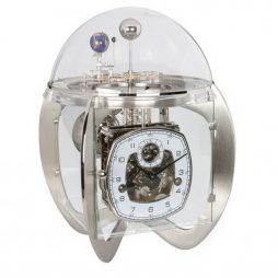 Astro Tellurium Mantel Clock - Brushed Nickel Hermle 23046000352
