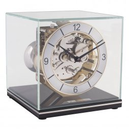 Clark Minimalistic Modern Mantel Clock - Black Hermle 23052740340