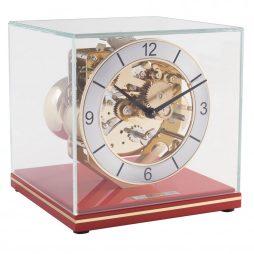 Clark Minimalistic Modern Mantel Clock - Red Hermle 23052T20340