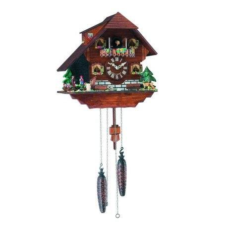 Heidelburg Quartz Cuckoo Clock with Waterfall Hermle 45000
