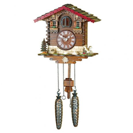 Hermle Simonswald Quartz Chalet Cuckoo Clock Hermle 46000