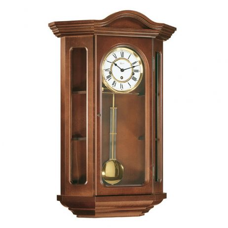 Faullkner Mechanical Wall Clock with Curio Cabinet - Cherry Hermle 70305N90341