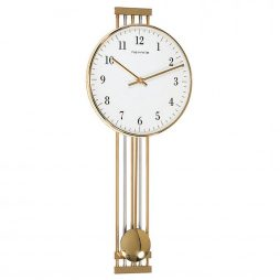 Highbury Metal Wall Clock - Brass Hermle 70722002200