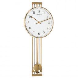 Highbury Metal Wall Clock - Brass Hermle 70722002200