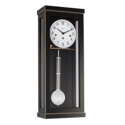 Carrington Regulator Wall Clock - Westminster Chime - Black  Hermle 70989740341
