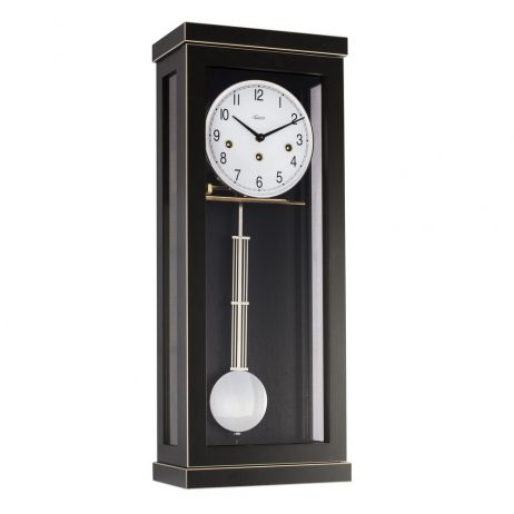 Carrington Regulator Wall Clock - Westminster Chime - Black  Hermle 70989740341