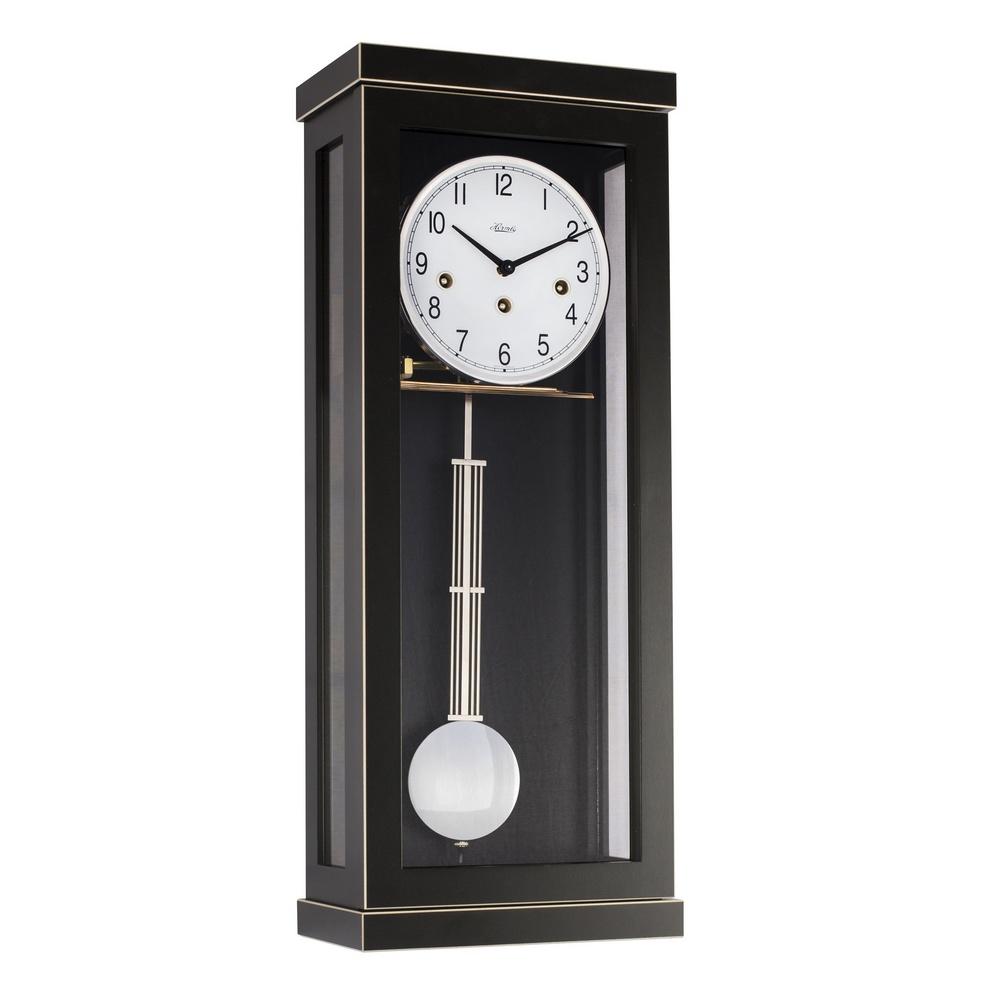 Carrington Regulator Wall Clock Black Hermle 70989740341