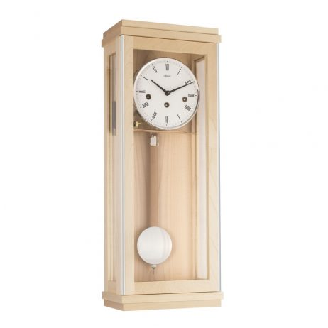 Braxton Modern Regulator Wall Clock - Maple Hermle 70990090341