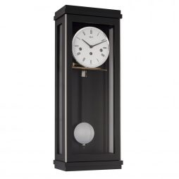 Braxton Modern Regulator Wall Clock - Black Hermle 70990740341