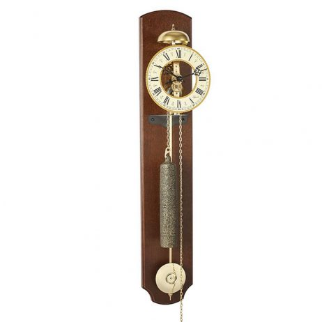 Michelle Skeleton Wall Clock - Walnut Hermle 70992030711