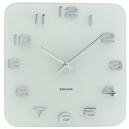 "Karlsson 13.8"" Glass Wall Clock, White KA4399"