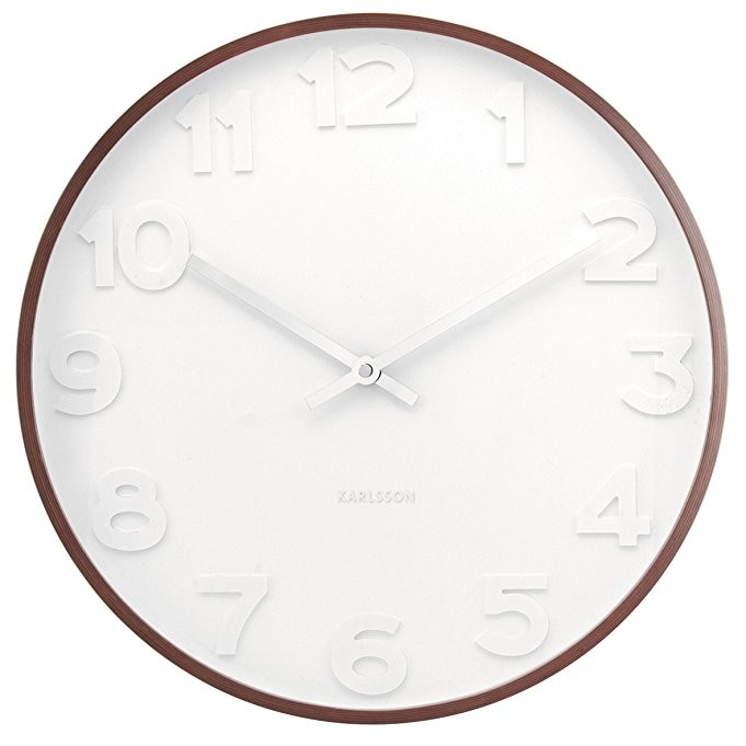 Mr White 20 Quot Wall Clock Wooden Case Karlsson Ka5470
