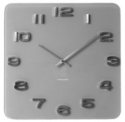 "Karlsson 13.8"" Glass Wall Clock, Gray KA5488GY"