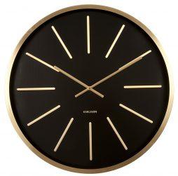 Maxiemus Brass Station Black Wall Clock KA5579BK