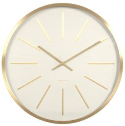 Maxiemus Brass Station White Wall Clock KA5579WH