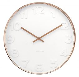 "Mr. White 14.8"" Wall Clock Copper Case Karlsson KA5588"