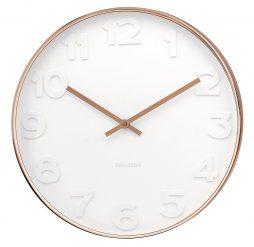 Karlsson Mr White 14 8 Wall Clock Copper Case K88