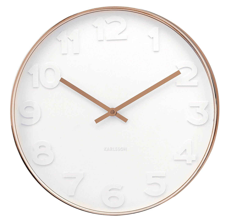 Mr White 14 8 Quot Wall Clock Copper Case Karlsson Ka5588
