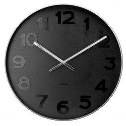 "Mr. Black 20"" Wall Clock Karlsson KA5631"