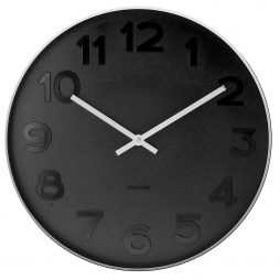 "Mr. Black 14.8"" Wall Clock Karlsson KA5632"