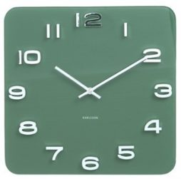 "Karlsson 13.8"" Glass Wall Clock, Green KA5641GR"