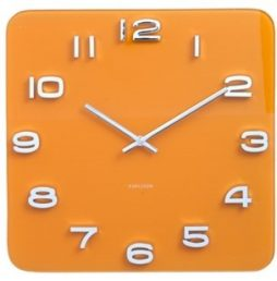 "Karlsson 13.8"" Glass Wall Clock, Yellow KA5641YE"