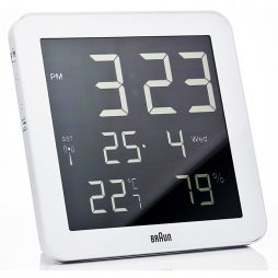 Braun - Digital Wall Clock - White - BN-C014-RC