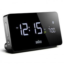 Braun - Multi-function Smartphone Compatible Bluetooth Alarm Clock - Braun - BN-C020BK